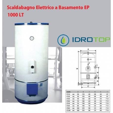 Scaldabagno elettrico 1000lt mod ep a basamento con piedi industriale - Scaldabagno 80 litri prezzo ...