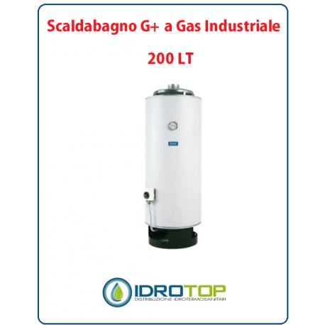 Scaldabagno 200LT G+ a Gas Industriale Heizer a Camera Aperta SMALTATO