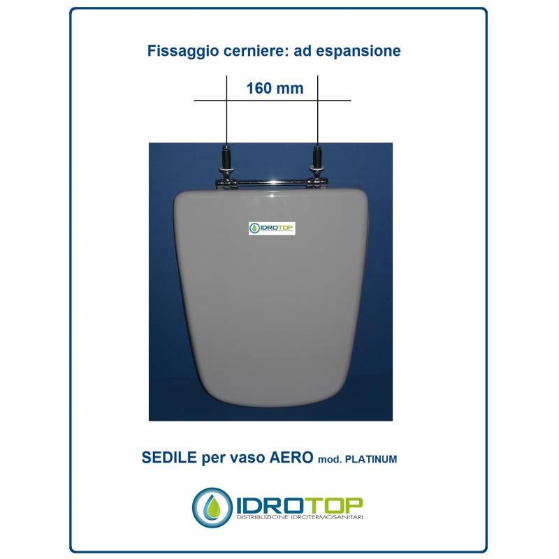 Copriwater sedile per modello aero ideal standard cerniera for Copriwater ideal