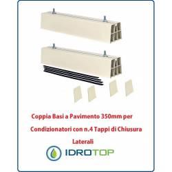 Coppia Basi a Pavimento 350mm per Condizionatori con n.4 Tappi di Chiusura Laterali