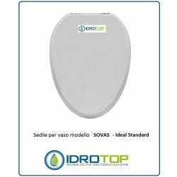 Copriwater Ideal Standard SOVAS BIANCO Cerniera Cromo-Sedile-Asse Wc