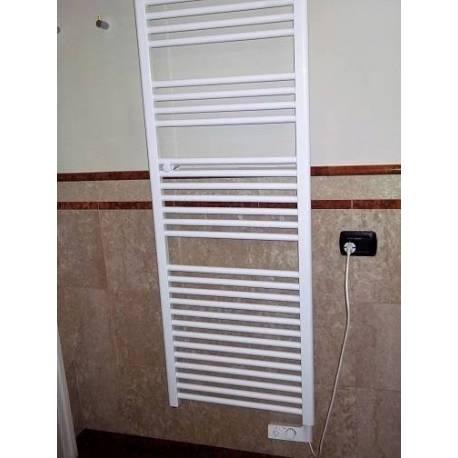 Termoarredo scaldasalviette elettrico mod cortina bianco 4 misure - Termoarredo bagno misure ...