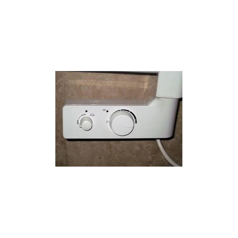 Termoarredo scaldasalviette h720xl400 calorifero elettrico bianco con termostato - Termoarredo bagno elettrico ...