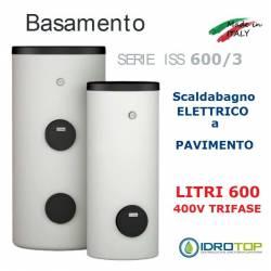 Scaldacqua ISS 600/3 - 600L Elettrico a Pavimento ad Accumulo in Acciaio Vetroporcellanata Styleboiler