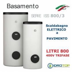 Scaldacqua ISS 800/3 - 800L Elettrico a Pavimento ad Accumulo in Acciaio Vetroporcellanata Styleboiler