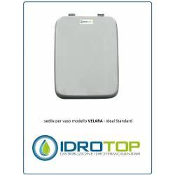 Copriwater Ideal Standard VELARA BIANCO Cerniera Cromo-Sedile-Asse Wc