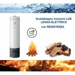 Scaldabagno LGE 80L a Legna-Elettrico ad Accumulo in Acciaio Vetroporcellana Styleboiler