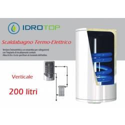 Scaldabagno Termo-Elettrico ST Verticale LT200 con Serpentino
