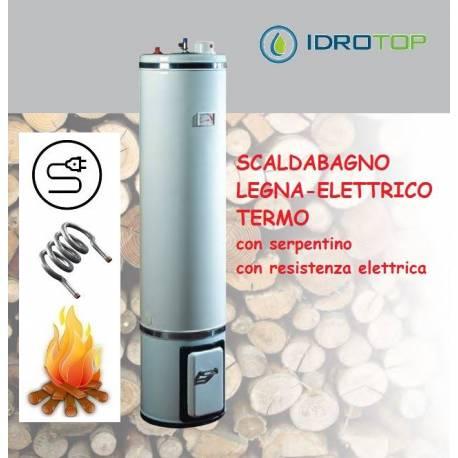 Scaldabagno a legna termo elettrico basamento litri 80 - Resistenza scaldabagno ...