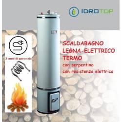 Scaldabagno a Legna Termo Elettrico LTE80 Scaldacqua Coibentato Bandini-Braun