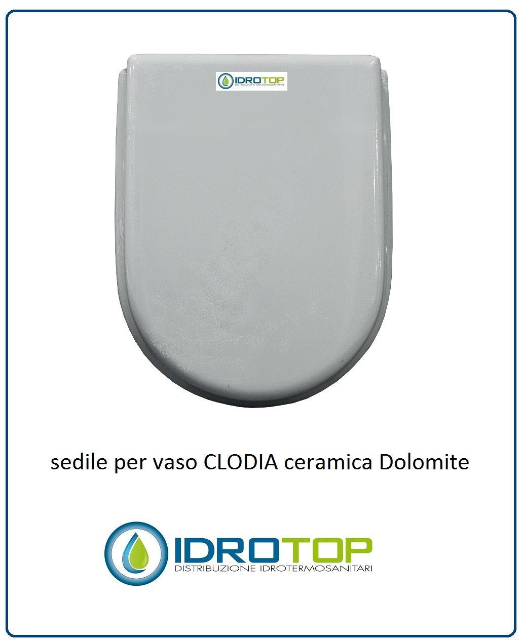 Sedile Wc Dolomite Clodia Originale.Copriwater Sedile Per Vaso Modello Clodia Dolomite