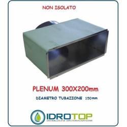 Plenum per Bocchette 300x200mm d.150 x NOVA A- in Lamiera Zincata