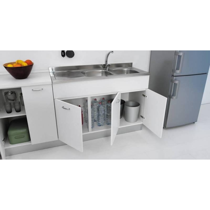 Sottolavello mobile per cucina 120 per lavello inox - Degrassatore cucina ...