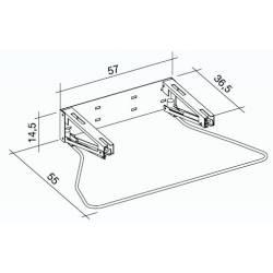 Meccanismo Di inclinazione a gas per lavabo ergonomico in acciaio INOX e acciaio LACCATO K design