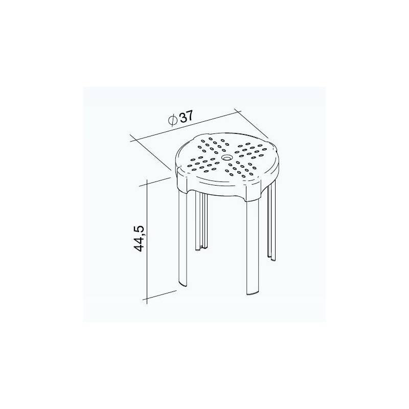 Sgabello disabili da bagno altezza 44 5cm bianco for Sgabello bagno design