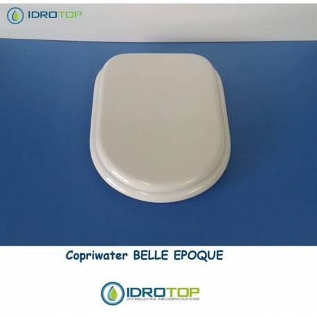 Copriwater Cesame  BELLE EPOQUE BIANCO Cerniera Cromo-Sedile-Asse Wc