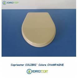Copriwater Pozzi Ginori COLIBRI' CHAMPAGNE Cerniera Cromo-Sedile-Asse Wc