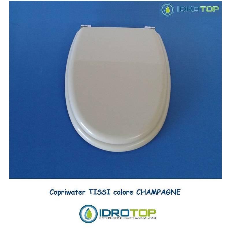 copriwater sedile tissi champagne cerniera cromo