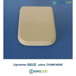 Copriwater Cesame ERICE CHAMPAGNE Cerniera Cromo-Sedile-Asse Wc