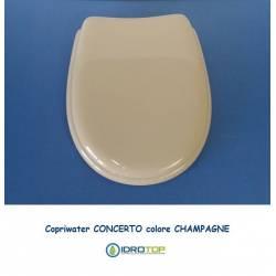 Copriwater Pozzi Ginori CONCERTO CHAMPAGNE Cerniera Cromo-Sedile-Asse Wc