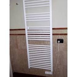 Scaldasalviette CORTINA elettrico bianco cm 92x48 con termostato