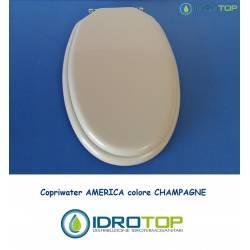 Copriwater AMERICA Champagne Cerniera Cromo-Vavid