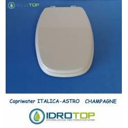 Copriwater Pozzi Ginori ITALICA ASTRO CHAMPAGNE Cerniera Cromo-Sedile-Asse Wc