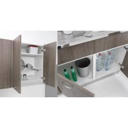 Sottolavello pieghevole per cucina lavello in inox 90 x 50