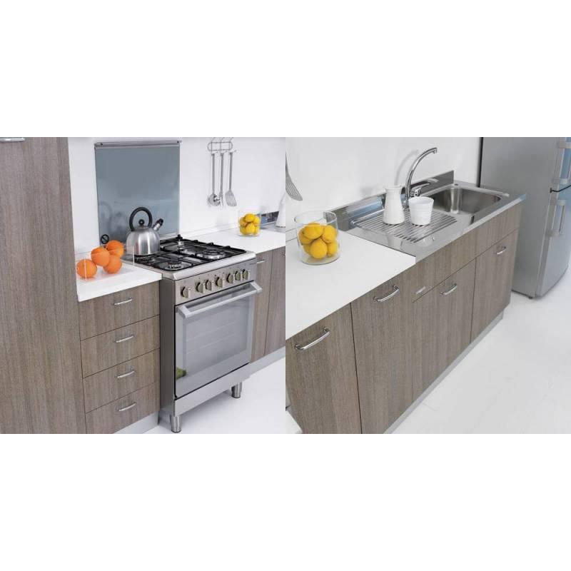 Sottolavello mobile per cucina lavello in inox 100x50 - Lavello cucina professionale ...