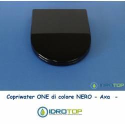 Copriwater AXA ONE Colore Nero Cerniera Cromo