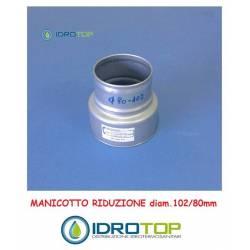 Manicotto Riduzione 102/80-per le Tubazioni flessibili e rigide Aria Calda e Fredda