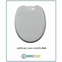 Copriwater Ideal Standard ALA SOSP. BIANCO Cerniera Cromo-Sedile-Asse Wc