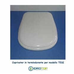 Copriwater compatibile Tesi in termoindurente Bianco Euro Ideal Standard