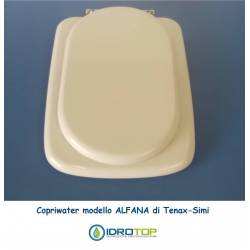 Copriwater ALFANA Bianco Cerniera Cromo-Tenax Simi
