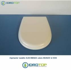 Copriwater CLIO/MEDEA Eos Bianco Cerniera Cromo