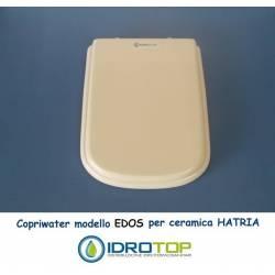 Copriwater Hatria EDOS BIANCO Cerniera Cromo-Sedile-Asse Wc