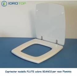 Copriwater Flaminia FLUTE BIANCO Cerniera Cromo-Sedile-Asse Wc