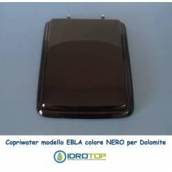 Copriwater Dolomite EBLA NERO Cerniera Cromo-Sedile-Asse Wc