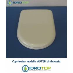 Copriwater Galassia ASTER BIANCO Cerniera Cromo-Sedile-Asse Wc
