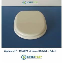 Copriwater F. CONCEPT Bianco Cerniera Cromo-Falerii