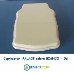 Copriwater G.S.I PALACE BIANCO Cerniera cromo-Sedile-Asse Wc