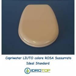 Copriwater Ideal Standard LIUTO ROSA SUSSURRATO Cerniera Cromo-Sedile-Asse Wc