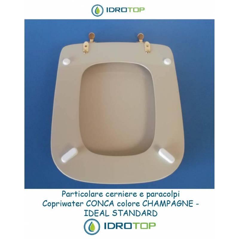 Sedile Water Ideal Standard Modello Conca.Copriwater Ideal Standard Conca Champagne
