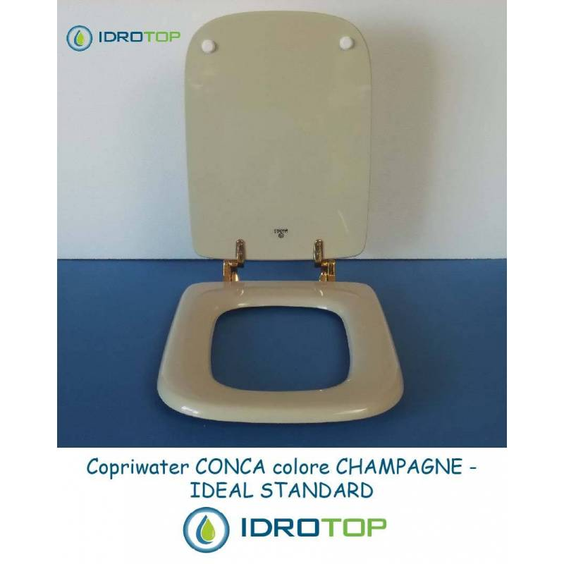 Copriwater ideal standard conca champagne for Ideal standard cantica copriwater