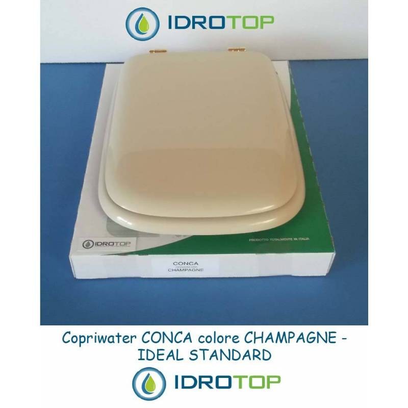 Copriwater ideal standard conca champagne for Ideal standard conca visone