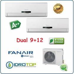 Climatizzatore Dual Split 9000+12000 Btu/h Inverter Dc Fanair-Fantini Cosmi