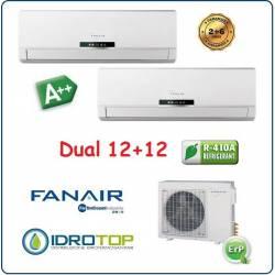 Climatizzatore Dual Split 12000+12000 Btu/h Inverter Dc Fanair-Fantini Cosmi