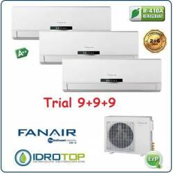 Climatizzatore Trial Split 9000+9000+9000 Btu/h Inverter Dc Fanair-Fantini Cosmi
