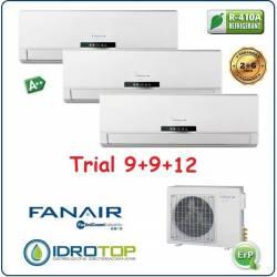 Climatizzatore Trial Split 9000+9000+12000 Btu/h Inverter Dc Fanair-Fantini Cosmi