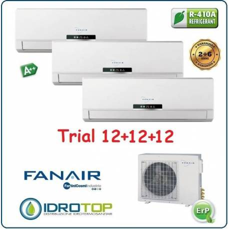 Climatizzatore Trial Split 12+12+12 Btu/h Inverter Dc Fanair-Fantini Cosmi